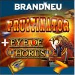 Sunmaker Bonus für neue Spiele – Fruitinator und Eye of Horus
