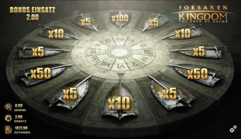 Bonusrad vom Forsaken Kingdom Slot