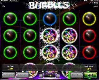 Bubbles Slot Tabelle