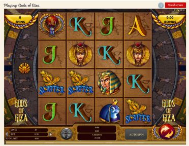 Gods of Giza Slot Tabelle