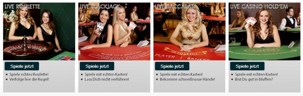 Live Casino im Sieger Casino