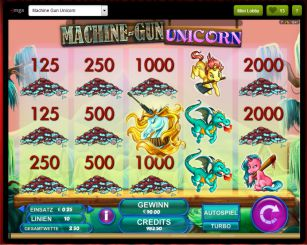 Machine Gun Unicorn Slot Gewinn