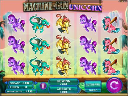 Machine Gun Unicorn Slot Spielautomat