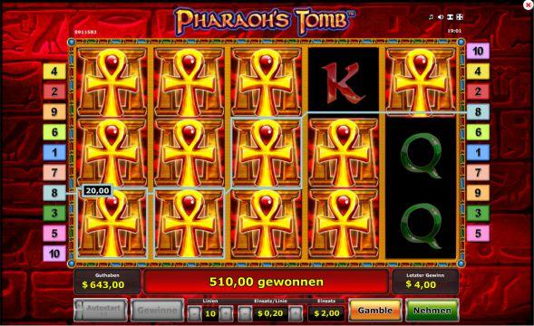Pharaohs Tomb Slot Gewinn