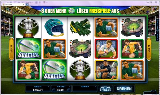 Rugby Star Slot Spielautomat neu