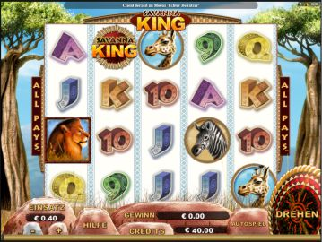 Savanna King Slot Spielautomat