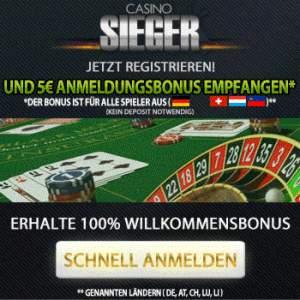 Sieger Casino Angebot