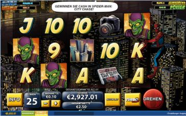 Spiderman Slot Gewinn Jackpot