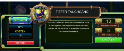 Tiefer Tauchgang